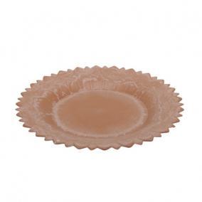 Tányér virág alakú műanyag 39x3,5cm narancs