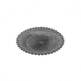 Tányér virág alakú műanyag 39x3,5cm sötét szürke