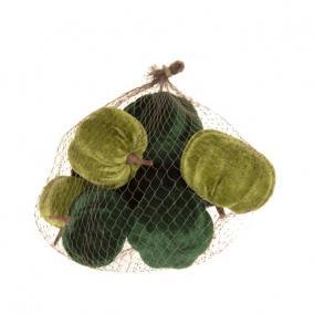 Tök bársony,hungarocell 6/8 cm zöld [9 db]