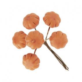 Tök csokorban betűzős hungarocell 2,7 cm x 10 cm narancs