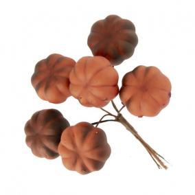 Tök csokorban betűzős hungarocell 3,2 cm x 10  cm narancs,barna