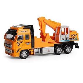 Truck markolós teherautó 1:38 sárga