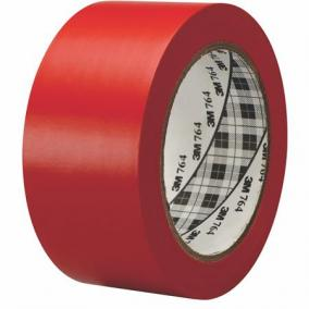 Ipari jelzőszalag, 50mm x 33m, 3M, piros [33 méter]