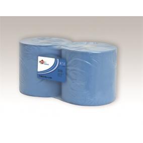 Kéztörlő, tekercses, 3 rétegű, Force kék