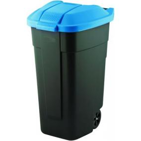Görgős szemetes, műanyag, 110l, CURVER, kék/fekete
