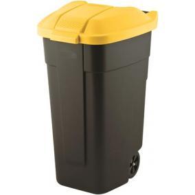 Görgős szemetes, műanyag, 110l, CURVER, sárga/fekete