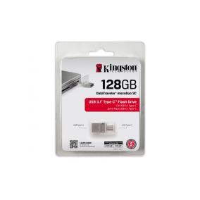 Pendrive, 128GB, USB 3.1+Type-C, 100/15 MB/s, KINGSTON