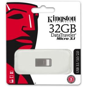 Pendrive, 32GB, USB 3.1, 100/15MB/s, KINGSTON