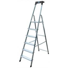 Állólétra, 6 lépcsőfokos, alumínium, KRAUSE