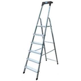 Állólétra, 8 lépcsőfokos, alumínium, KRAUSE