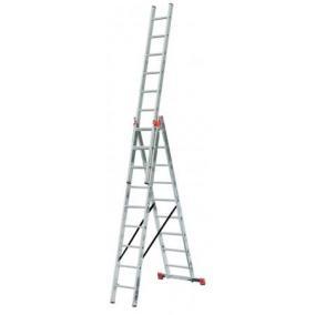 Többfunkciós létra, 3x9 lépcsőfok, alumínium, KRAUSE