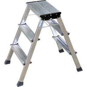 Fellépő, gurítható lépcsőfokos, 2x3 lépcsőfok, alumínium KRAUSE