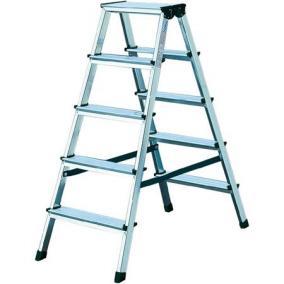 Állólétra, 2x4 lépcsőfokos, 2 oldalon járható, alumínium, KRAUSE