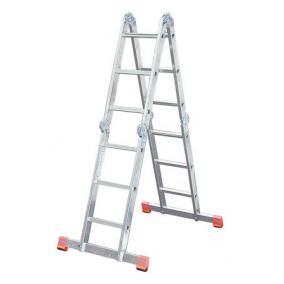 Csuklós létra, univerzális, 4x3 lépcsőfok, alumínium, KRAUSE