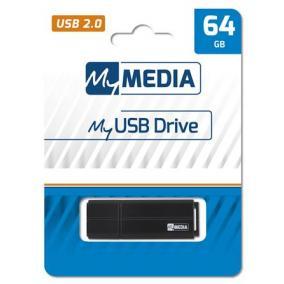Pendrive, 64GB, USB 2.0, MYMEDIA
