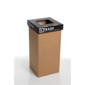 Szelektív hulladékgyűjtő, újrahasznosított, angol felirat, 20 l, RECOBIN