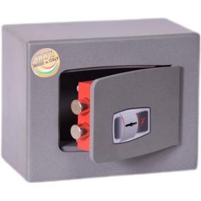 Bútorszéf, kulcsos zár, 6 l, 220x280x150 mm, TECHNOMAX