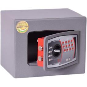 Bútorszéf, elektronikus zár, 9 l, 220x280x200 mm, TECHNOMAX