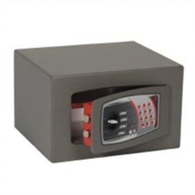 Bútorszéf, elektronikus zár, 19 l, 220x350x300 mm, TECHNOMAX