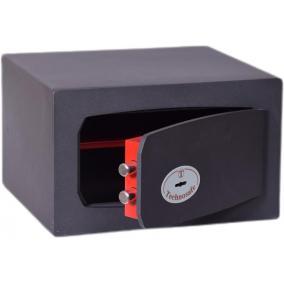 Bútorszéf, kulcsos zár, 17 l, 210x340x300 mm, TECHNOMAX