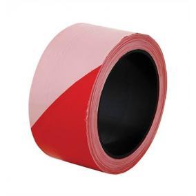 Jelzőszalag, 100 méter, 5 cm széles, piros-fehér [100 méter]