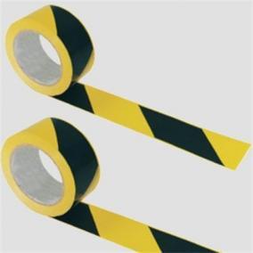 Jelzőszalag, 200 méter, 7 cm széles, sárga -fekete [200 méter]