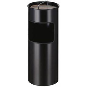 Tűzálló szemetes, fém,  kiemelhető hamutartóval, VEPA BINS, fekete