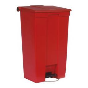 Pedálos szemetes, 87 l, műanyag, piros, RUBBERMAID