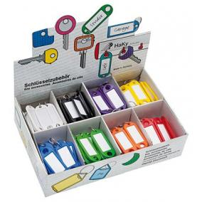 Kulcscímke display 200 db, kulcskarikával, WEDO, 8 különböző színben [200 db]