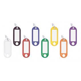Kulcscímke, 100 db, WEDO, 8 különböző színben [100 db]
