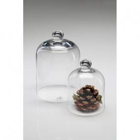Üveg búra 18,5x14cm átlátszó