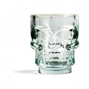 Üveg feles pohár, csontváz koponya (4 db/szett)