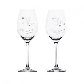 Üveg pohár swarovski dísszel