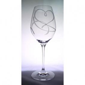 Üveg pohár swarovski dísszel bor 470ml átlátszó I (2db/csom)