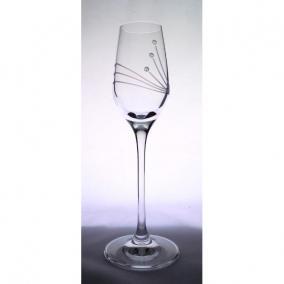 Üveg pohár swarovski dísszel pálinka 95ml átlátszó [6 db]