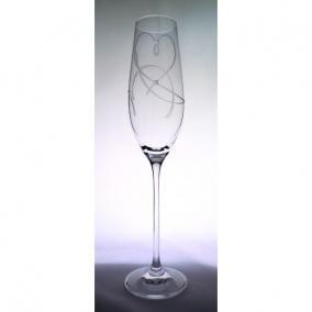 Üveg pohár swarovski dísszel pezsgő 210ml átlátszó I (2db/csom)