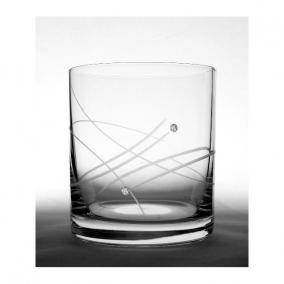 Üveg pohár swarovski dísszel whisky 280ml átlátszó II (6db/csom)