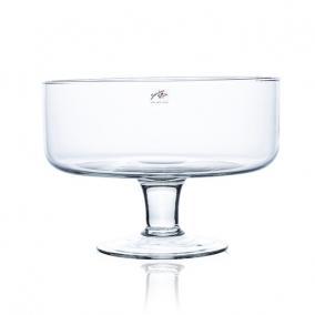 Üveg talpas tál 14x18cm átlátszó