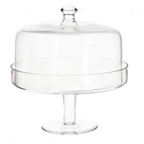 Üveg tortatál fedővel 25,5x14x23,5cm