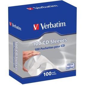 CD boríték, papír, ablakos, öntapadó füllel, VERBATIM, fehér [100 db]