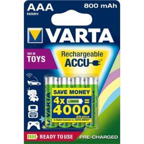 Tölthető elem, AAA mikro, újrahasznosított, 4x800 mAh, VARTA [4 db]