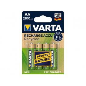 Tölthető elem, AA, ceruza, újrahasznosított, 4x2100 mAh, VARTA [4 db]