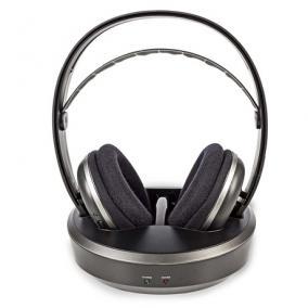 Fejhallgató vezeték nélküli  - Nedis, HPRF210BK