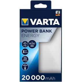 Hordozható akkumulátor, 20000 mAh, VARTA
