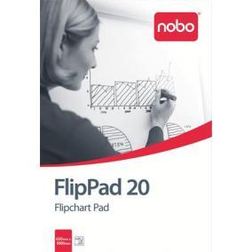 Flipchart papír, 650X955mm, 20 lap, NOBO [20 lap]