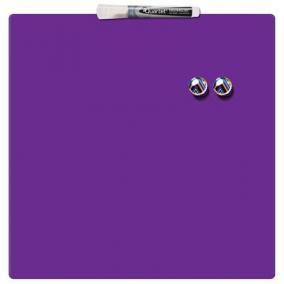 Üzenőtábla, mágneses, írható, lila, 36x36 cm, REXEL