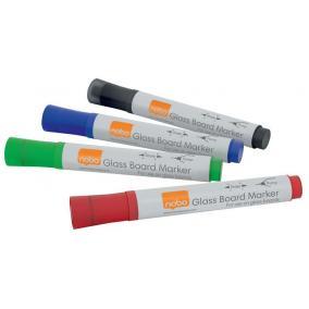 Üvegtábla marker, NOBO, 4 különböző szín [4 db]