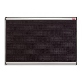 Habtábla, tűzhető, fekete, 90x120 cm, alumínium/műanyag keret, NOBO