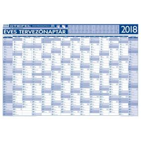 Tervező naptár, fémléces, 70x100 cm, 2018 évi, STIEFEL