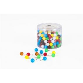 Térképtű, gömbfejű, 200 db, vegyes színű [200 db]